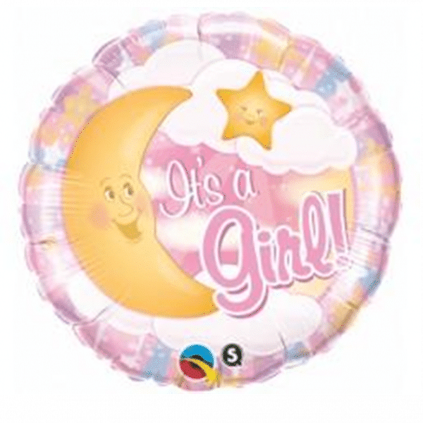 helium filled its a girl foil balloon from cardiff balloons