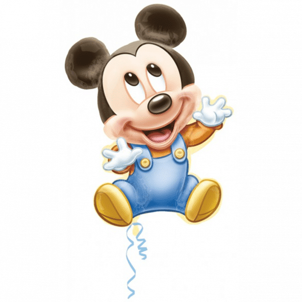 helium filled baby mickey mouse foil balloon from cardiff balloons