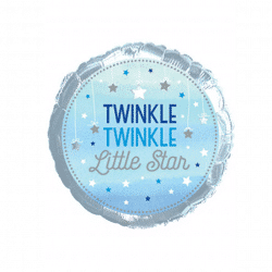 helium filled twinkle twinkle little star foil balloon from cardiff balloons