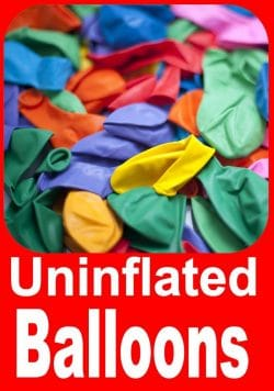 Uninflated Latex Balloons