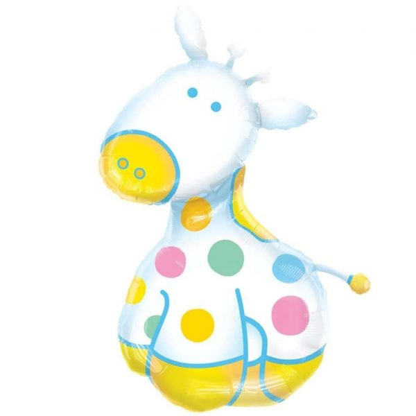 helium filled baby giraffe foil balloon from cardiff balloons