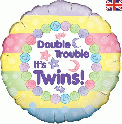 helium filled double trouble its twins foil balloons