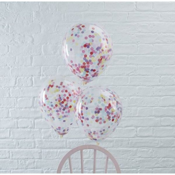 Multi COloured Confetti Balloons From Cardiff Balloons