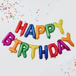 Happy Birthday Balloon Banner From CArdiff Balloons