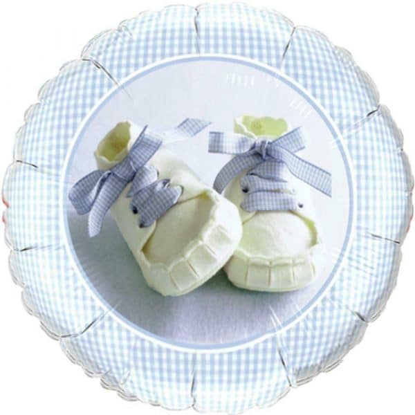 helium filled baby shoes foil balloon from cardiff balloons