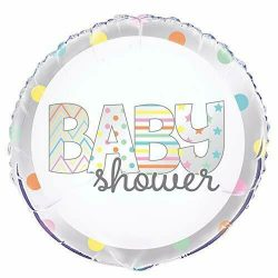 helium filled baby shower foil balloon from cardiff balloons