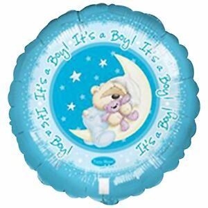 helium filled its a boy foil balloon from cardiff balloons