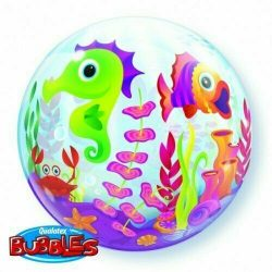 helium filled under the sea bubble balloon from cardiff balloons