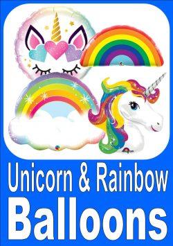 Unicorn & Rainbow Balloons