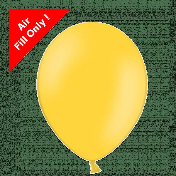 Yellow 5 inch latex balloons