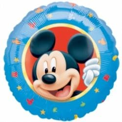 helium filled mickey mouse foil balloon from cardiff balloons