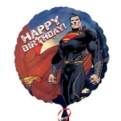helium filled superman happy birthday foil balloon from cardiff balloons