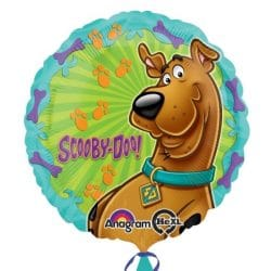 helium filled scooby doo foil balloon from cardiff balloons