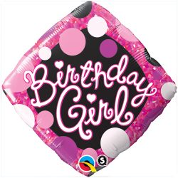 helium filled birthday girl foil balloon from cardiff balloons