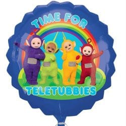 helium filled time for teletubbies foil balloon from cardiff balloons