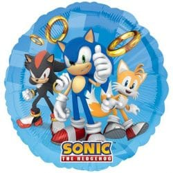 helium filled sonic the hedgehog foil balloon from cardiff balloons