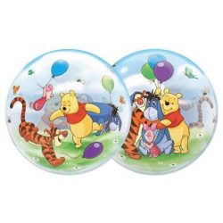 helium filled winnie the pooh bubble balloon from cardiff balloons