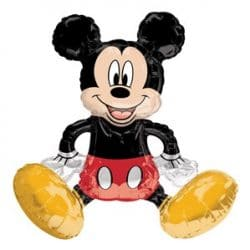 large helium filled mickey mouse foil balloon from cardiff balloons