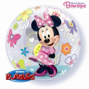 helium filled minnie mouse bubble balloon from cardiff balloons