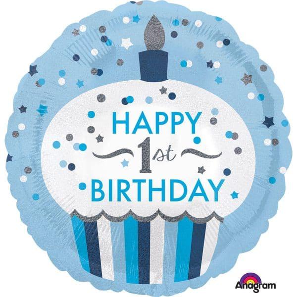 Helium Filled 1st Birthday Balloon