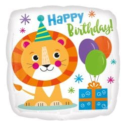 Happy Birthday Lion Balloon From Cardiff Balloons