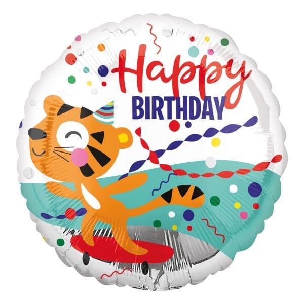 Happy Birthday Tiger Balloon