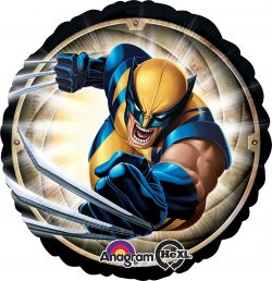 helium filled marvel wolverine foil balloon from cardiff balloons