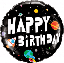 helium filled happy birthday astronaut foil balloon from cardiff balloons