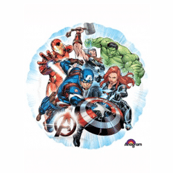 helium filled marvel avengers foil balloon from cardiff balloons