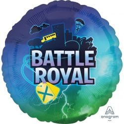 helium filled battle royal foil balloon from cardiff balloons