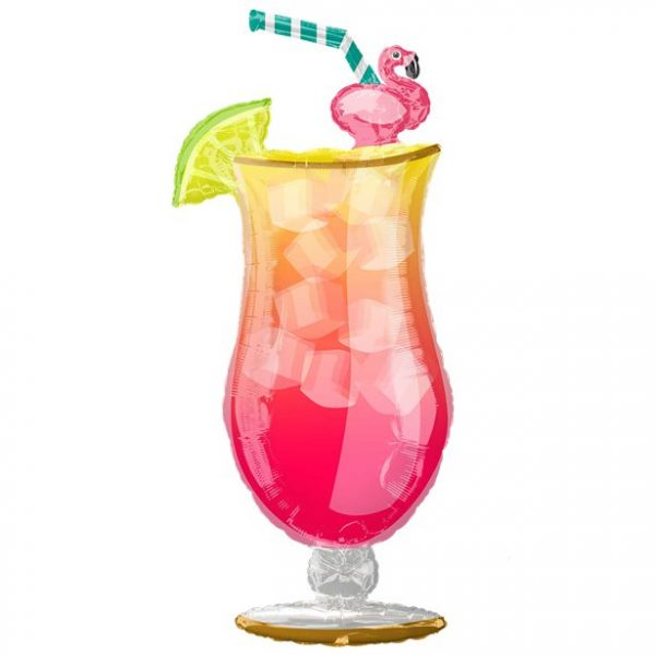 Helium Filled Tall Cocktail Glass Balloon