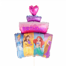 large helium filled disney happy birthday foil balloon from cardiff balloons