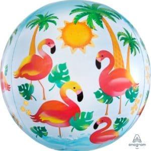 Flamingo Orbz Balloon From Cardiff Balloons
