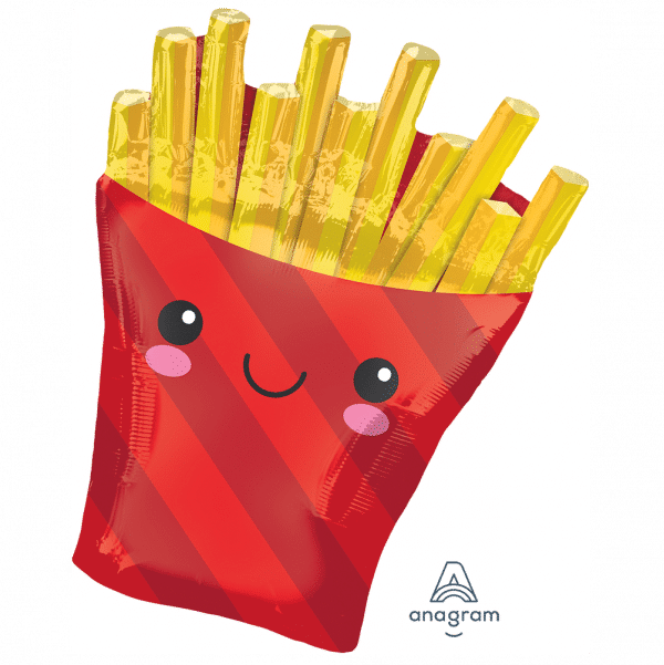 helium filled french fries foil balloon from cardiff balloons