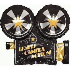 helium filled hollywood camera foil balloon from cardiff balloons
