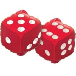 large helium filled casino dice foil balloon from cardiff balloons