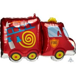 helium filled funky fire engine foil balloon from cardiff balloons