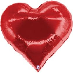 large helium filled casino heart foil balloon from cardiff balloons