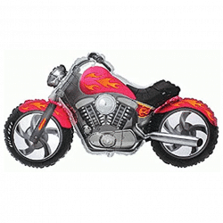 helium filled large motorbike foil balloon from cardiff balloons