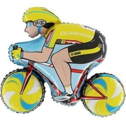 helium filled large racing bike foil balloon from cardiff balloons