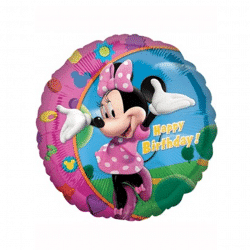 helium filled minnie mouse foil balloon from cardiff balloons