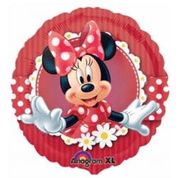 helium filled red minnie mouse foil balloon from cardiff balloons