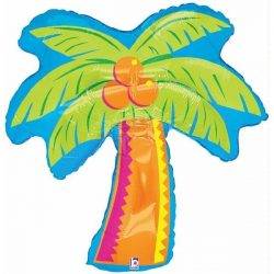helium filled hawaiian palm tree foil balloon from cardiff balloons