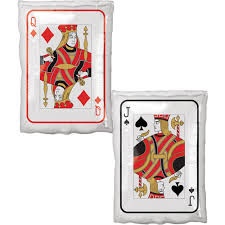large helium filled playing card foil balloon from cardiff balloons