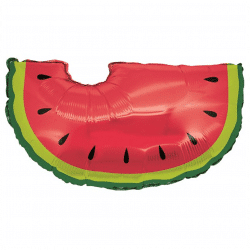 helium filled watermelon foil balloon from cardiff balloons