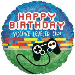 helium filled you've leveled upi birthday gaming foil balloon from cardiff balloons