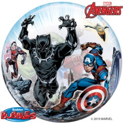 helium filled marvel avengers bubble balloon from cardiff balloons