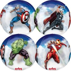 helium filled marvel avengers orbz balloon from cardiff balloons