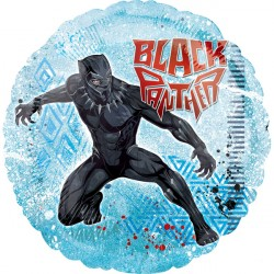helium filled marvel black panther foil balloon from cardiff balloons
