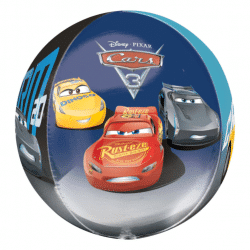 helium filled Disney Cars 3 orbz balloon from cardiff balloons